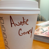 "Starbucks Alter Ego: ""Auntie Goney"""