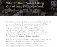 How to Fall Back in Love with New York