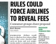 Rule Would Require Airlines to Disclose Extra Fees