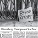 Opinion: Bloomberg, Champion of the Poor