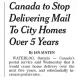 Canada Ending Mail Delivery to City Homes