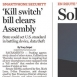 California Assembly Passes Cellphone Kill Switch Bill