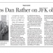 CBS Spurns Dan Rather in JFK Coverage