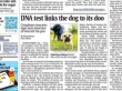 DNA Helps Crack Dog Poo Cases