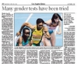 Gender Test a Hurdle for Olympic Athletes