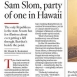 Party of One: Hawaii's Lone GOP Senator