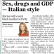 Italy to Include Drugs & Sex in GDP Calculations