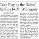 "Monopoly Seeks Out Best ""House Rules"""
