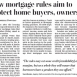 New Mortgage Rules Take Effect