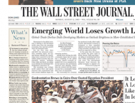 WSJ Slims Down Front Page Design