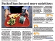 School Cafeteria Food Healthier Than Packed Lunches
