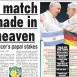 World Cup Final Pits Pope Versus Pope