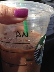 Today's Starbucks Alter Ego: An(n)