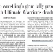 Ultimate Warrior the Latest Wrestler to Die Early