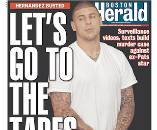 aaron hernandez paper Aaron hernandez has been charged with murdering his friend after the two feuded during a trip to a nightclub.