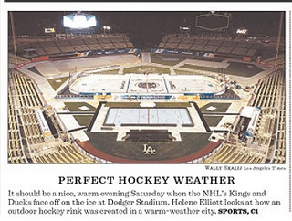 Los Angeles Prepares For Outdoor Hockey Game Pat S Picks