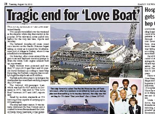 Tragic End For Love Boat Pats Picks - Love boat cruise ship