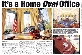 recreating oval office. Recreating Oval Office. Ron Wade Owns The Largest Presidential Memorabilia Crown Jewel Exact Replica Office
