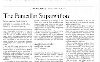 Most Penicillin Allergies Are Bogus | Pat's Picks