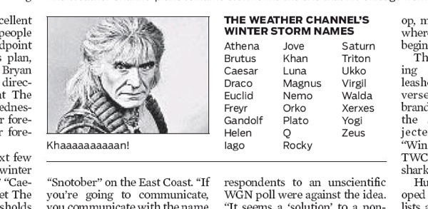 weather channel debuts winter storm name roster